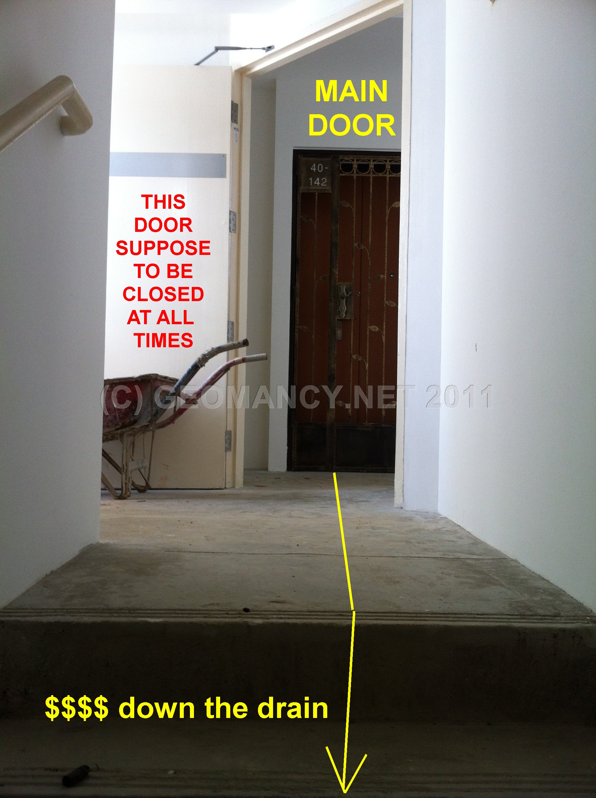 Main Entrance Door Facing Staircase Stairs Feng Shui Tips Guidelines Fengshui Geomancy Net