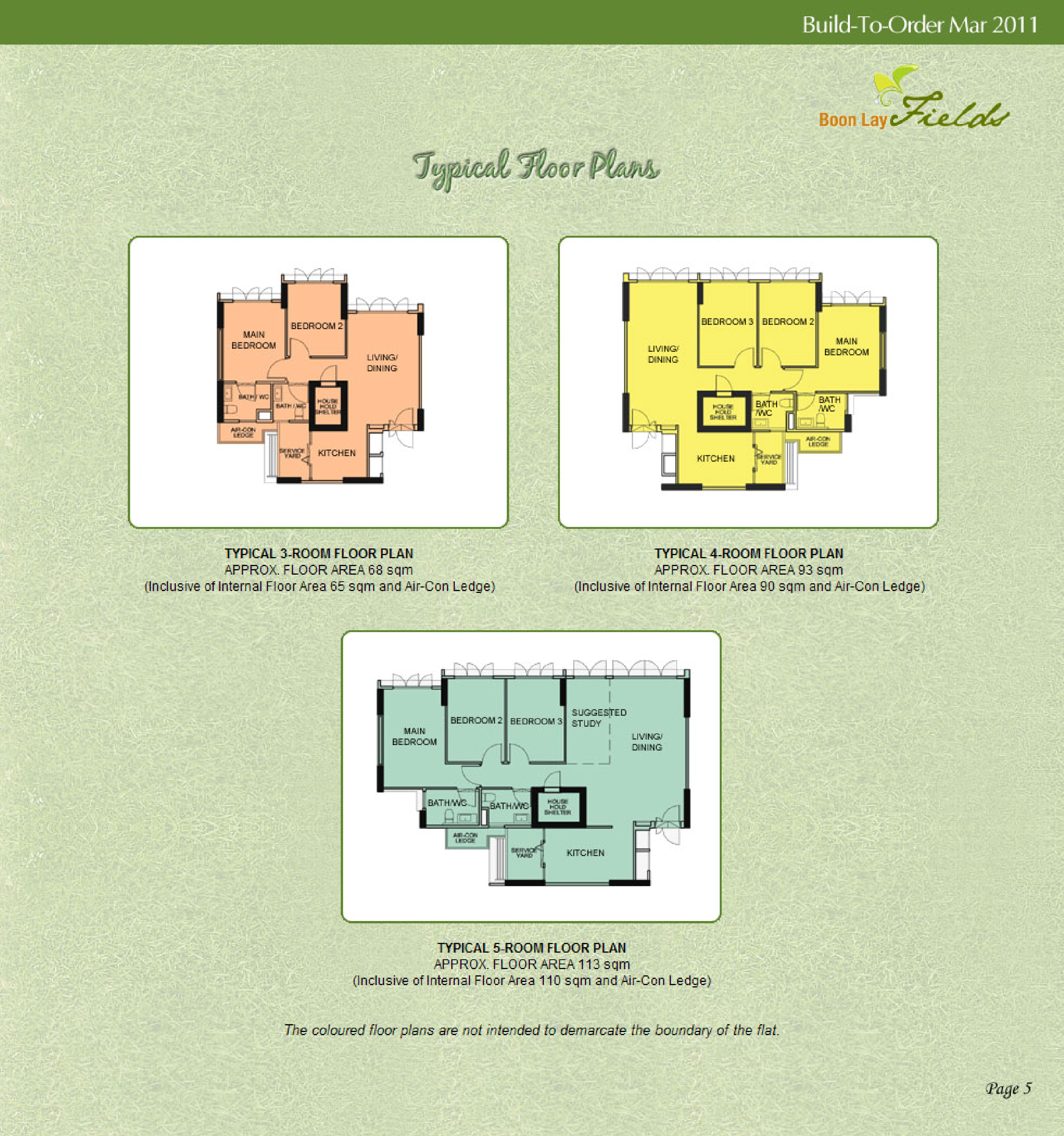 Hdb Boon Lay Fields Bto Launched In March 2011 Site Plan And Floor Plans Around Singapore Fengshui Geomancy Net